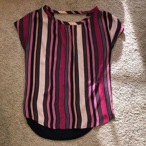 Anne Taylor Loft NWOT stripe open back cap sleeve